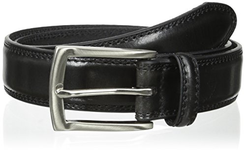 Dockers Mens 1 3/8 in. Feather-Edge Belt Black