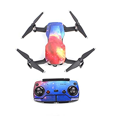 Waterproof PVC 3D Stickers Decal Skin Cover Protector For DJI Mavic Air Drone RC,For Mini model helicopter remote Control Helicopter rc Helicopter Radio Remote Heli Control Aircraft Micro 2 Channel Remote Control Small Control Helicopter Jimmkey by Jimmke