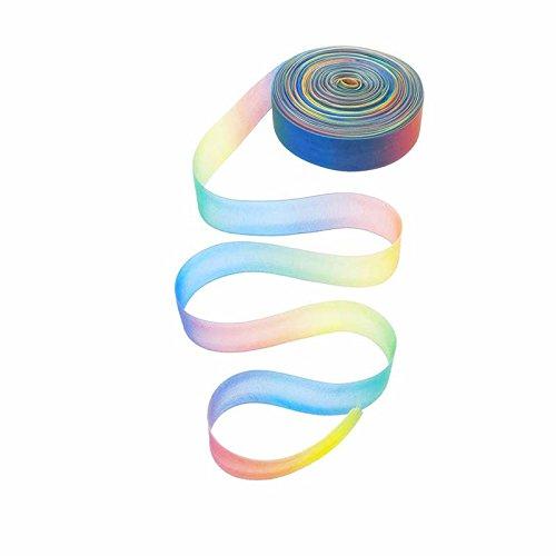 Wuudi Hot Verkauf Haar Zubehör Colorful BAR1Zoll Shimmer Organzaband, Rainbow Gradient Colorful Bar, Hochzeit Dekoration