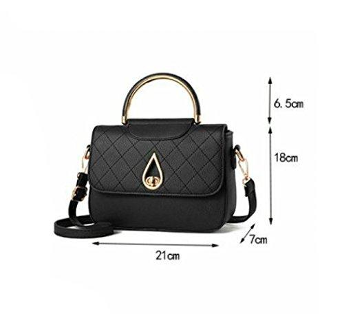 LAIDAYE Handtaschen-Retro- Handtasche Mode Handtasche Schultertasche Messenger Bag Kleines Quadrat-Paket 2