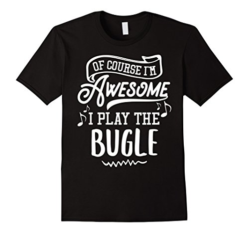 bugle-t-shirt-of-course-im-awesome-herren-grosse-s-schwarz