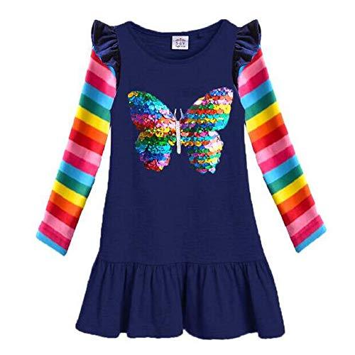 VIKITA Mädchen Kleider Sommer Baumwolle Kinder Kleid EINWEG LH5880 3T