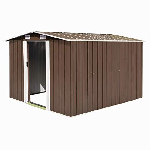 UnfadeMemory Caseta de Almacenamiento de Metal de Jardín,Cobertizo Exterior para Almacenar Herramientas...