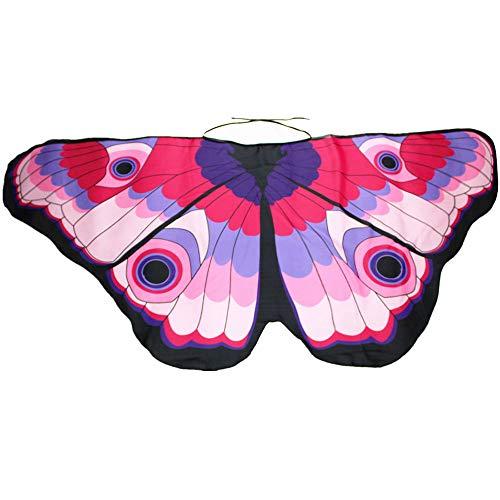 rling Flügel Kostüm Nymphe Pixie Umhang Faschingkostüme Schals Poncho Kostümzubehör Zubehör (Rosa) ()