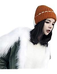 Skitor Comodi Moda Cappello a Maglia Donna Maglieria Berretti Inverno  Ragazze Cappelli Kawaii Casual Cappello Dolce b135fe4c9d70