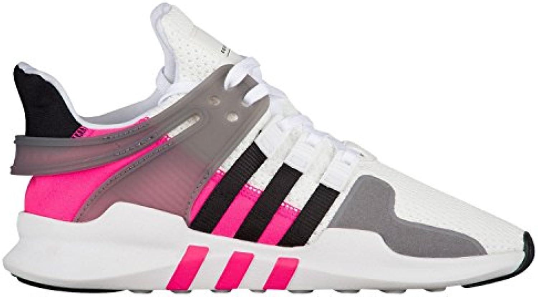 adidas originaux des eqt filles « eqt des soutien adv c basket, blanc / noir / choc nous rose, 11,5 moyenne petite b1c0b1