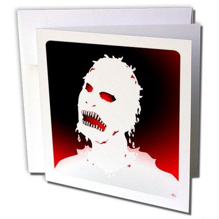 3dRose Gc_25580_2 Grußkarten, Motiv Zombies 1 auf Weiß, 15,2 x 15,2 cm, 12 Stück