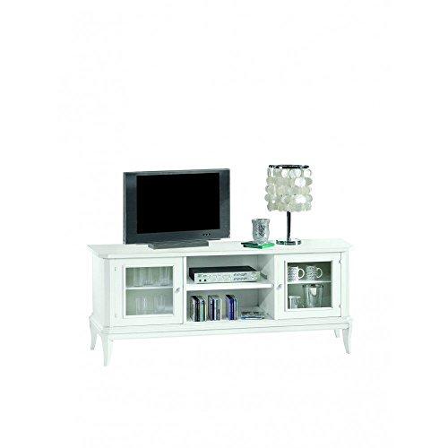 Classico porta tv basso shabby chic elegante porta tv basso bianco opaco 164x46x64 1442