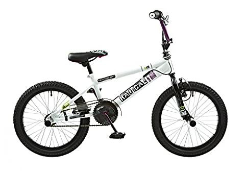 "18 ""BMX Rooster Radical avec rotor et Pegs, weiss/lila"