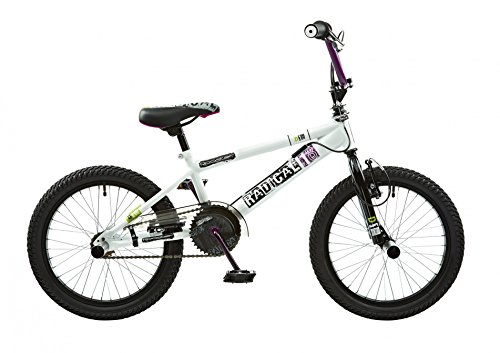 18 Zoll BMX Rooster Radical mit Rotor und Pegs , Farbe:weiss/lila (Flatland-bmx Bikes)