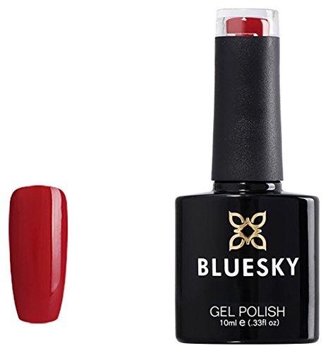 Bluesky Gel Nail Polish, Pillar Box D160, Bright Red, UV/LED Soak-Off Gel Polish, 10ml