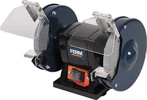 FERM BGM1019 Doppelschleifmaschine 150W - 150mm - Incl. P36 und P60 Schleifsteinen, Schutzbrille und Funkenfänger