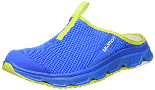 Salomon Herren RX Slide 3.0 Pantoletten, Blau (Bright Blue/Union Blue/Gecko Green), 46 EU