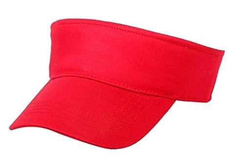 Butterme Fashion Unisex Childrens/Kids Outdoor Sun Visor Adjustable Hat Breathable Baseball Cap (Red)