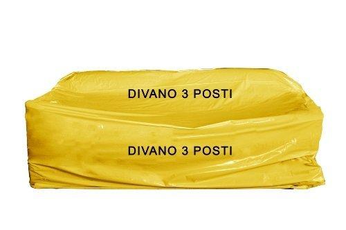 1 sacco copridivano nylon 3 posti x trasloco/conservare mis. cm 175 x 350