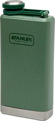 Stanley Adventure großer Flachmann, 0.23 L, Hammertone Green, 18/8 Edelstahl, auslaufsicher, mit Deckelsicherung -