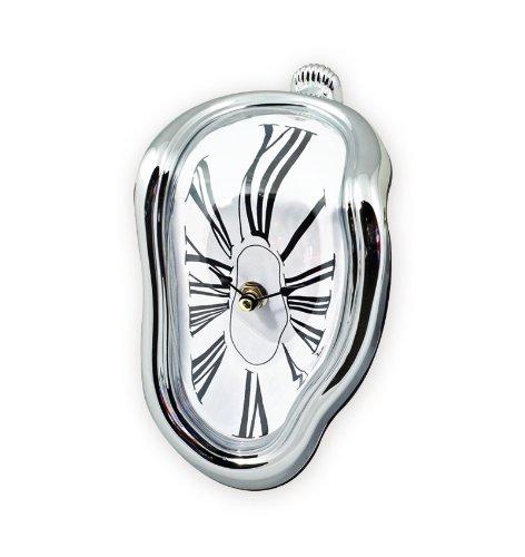 St.Leonhard - Reloj de estanteríaoriginal con diseño muy artístico y surrealista (el reloj cuelga del borde)