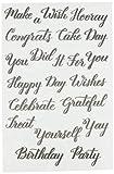 American Crafts Sellos trazables Congratulations Kelly