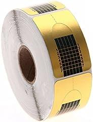 Rotolo Cartine Oro 500 Pezzi Nail Art Per Ricostruzione Allungamento Unghie