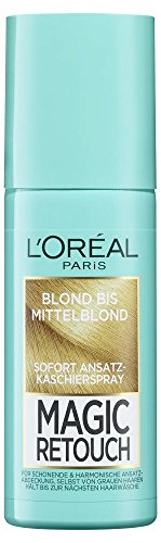 L'Oréal Paris Magic Retouch Ansatz-Kaschierspray, Blond bis Mittelblond, 1er Pack (1 x 75 ml) -