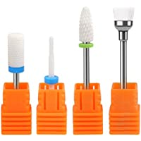 TIMESETL 3 Piezas Fresas de Cerámica 2.35MM Pulidora de Uñas Profesional para Uñas Acrilicas+ Cepillo de Limpio