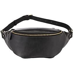 Bolso de Cuero Cangurera Mensajero de Cintura Deportes del Paquete del Bolsa de Pecho de Honda de Paquetes de Fanny Hombre
