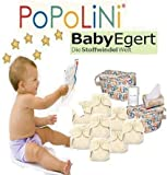 Popolini KOMPLETT-SET OneSize ORGANIC -- XXL Set inkl. Stoffwindeln,...