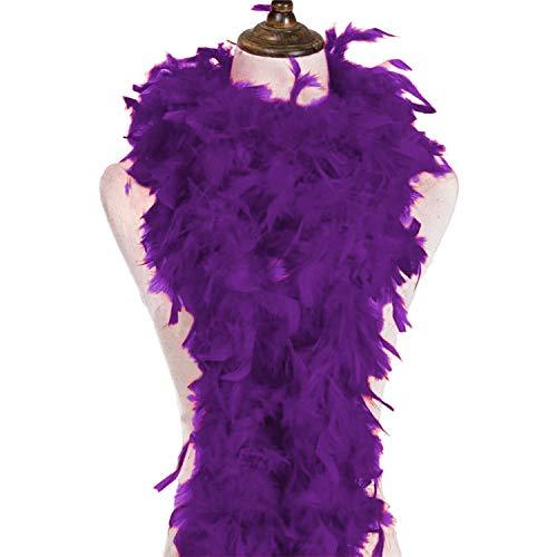 Federboa - 180 cm - Lila dunkel (Eule Kostüm Stirnband)