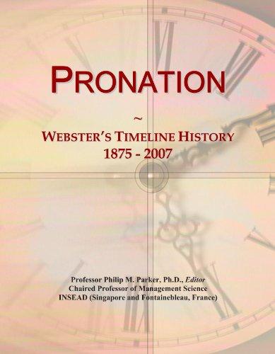 Pronation: Webster's Timeline History, 1875 - 2007 (Pronation)