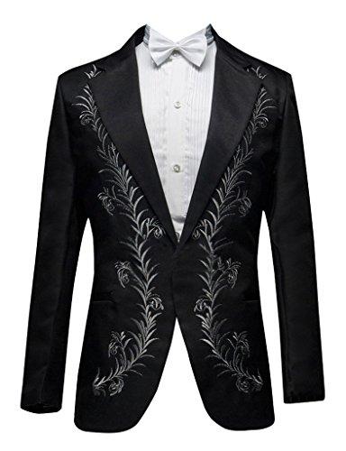 GEORGE BRIDE -  Giacca da abito  - Uomo nero e argento