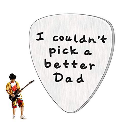Lispeed Gitarren Plektren, Plektrum, Plektrumhalter '' I Couldn't Pick A Better Dad Fathers'' für Akustikgitarre, E-Gitarre, Ukulele, Bass, Guitar Picks, Zubehör für Gitarre