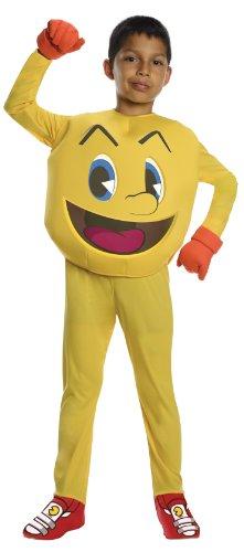 Kostüm Kinder Pacman - NEU! Pac Man Deluxe Kostüm für Jungen Gr. 104/122 = Größe Small