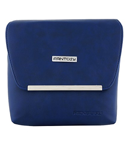 fantosy women blue metal slingbag fnsb-167