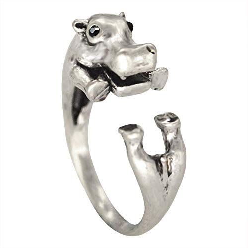 Aoligei anello regolabile aprire ippopotamo regolabile in lega anello galvanica anti-allergia anello invia un amico di famiglia un regalo di compleanno