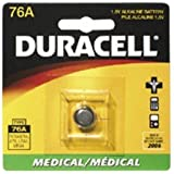 Duracell 76A Coin Cell Photo/Electronic Battery Retail Pack - 1.5V Alkaline - Model PX-76AB 303/357, A23, 76A, LR44