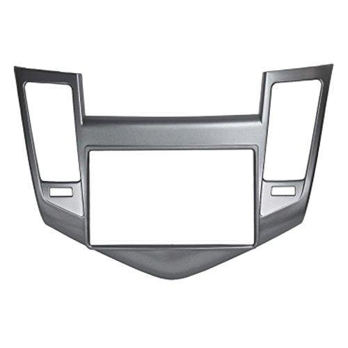Carav 11-407 double DIN radio adaptateur stéréo DVD Dash entourée de Trim Kit d'installation pour Schevrolet Cruze 2009-2012 (Argent) Façade d'Trim Façade d'autoradio avec 173 * 98 mm et 178 * 102 mm