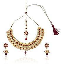Indian Collar Bollywood juego de joyas para novia Fashion artísticamente oro