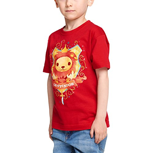 Elbenwald Harry Potter Kinder T-Shirt Magical Gryffindor Baumwolle Rot - 122/128