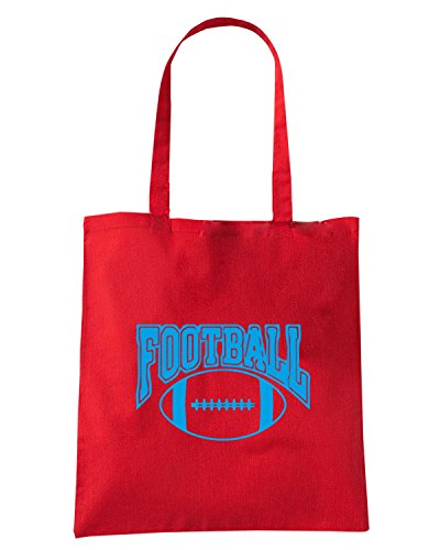 T-Shirtshock - Borsa Shopping WC1219 American Football Rugby Maglietta2 Rosso