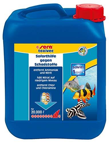 sera 03004 toxivec 5 Liter - Erste Hilfe im Aquarium bzw. Schadstoffe entfernen, damit weniger Wasserwechsel und für biologisch gesundes Aquariumwasser