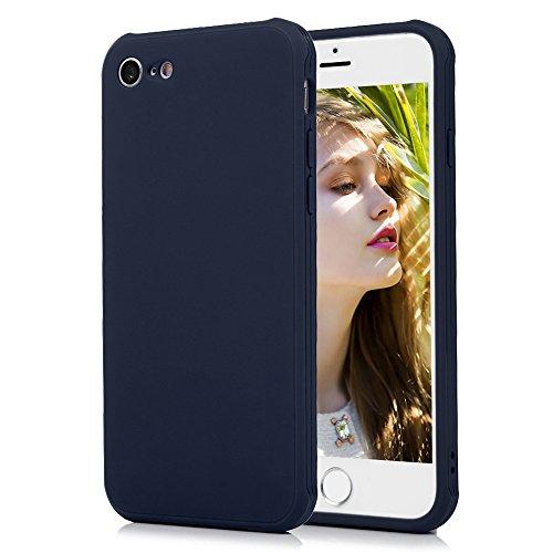 Cover iPhone 7, KASOS Custodia Silicone TPU Morbido Bumper Case Flessibile Sottile Antiurto Antigraffio Antiscivolo Shell Spessore di 1.3mm - Rosa Blu Scuro