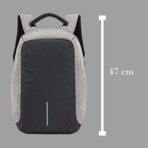 Best anti theft backpack in India 2020 Krishyam Anti Theft Waterproof Business Travel Laptop Bag with USB Cable and Built in Charging Port for College and Office Work Image 7