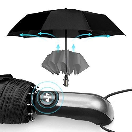 Nai-Style Résistant au Vent Entièrement Automatique Parapluie Pluie 3 Cadeau Pliant Parasol Grand Parapluie Voyage d'affaires pour l'extérieu