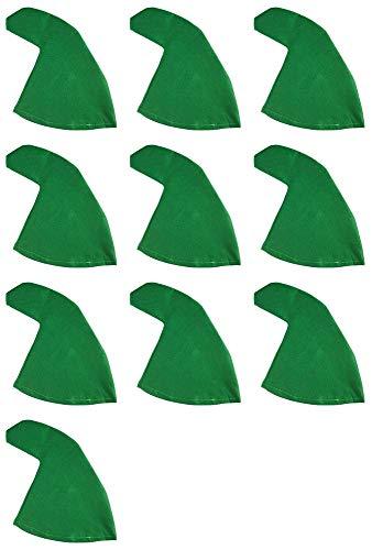 Zwergenmütze zum Kostüm Grün - - 10 Lustige Kostüm
