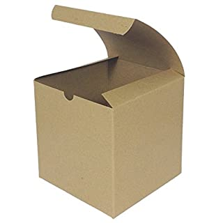 10 x Brown Flat Pack Gift Box, 150 x 150 x 150mm, Square Flat Pack Gift Boxes