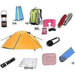T/g/y/h Y/w/p/e Tente de Camping à la Maison, Tente Ultra-légère de Darkroom de Tente de Toit Double extérieure for 3-4 Personnes (Color : C)