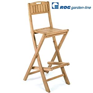 Tl8020 teak barhocker cancun klappbar garten for Barhocker amazon