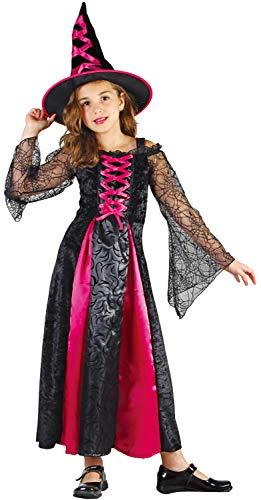 U LOOK UGLY TODAY Kinder Kostüm Bunte Hexe Halloween Kleid Karneval Verkleidungsparty Cosplay für Mädchen - S