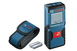 Bosch Professional Laser Entfernungsmesser GLM 30 (Ein-Knopf-Bedienung, max. Messbereich: 30 m; 2x 1,5-V Batterien, Schutztasche)