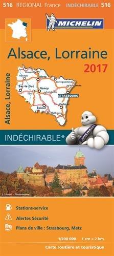 Carte Alsace, Lorraine Michelin 2017